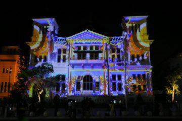 """Sumonar"" festival video mapping/ projection di Yogyakarta Agustus 2020"